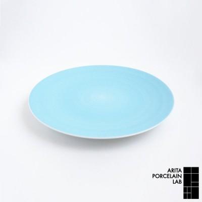 和食器 大皿 JAPAN BLUE フラットプレート (大) パールブルー 和モダン ブランド 食器 食器ギフト パスタ皿 有田焼 アリタポーセリンラボ