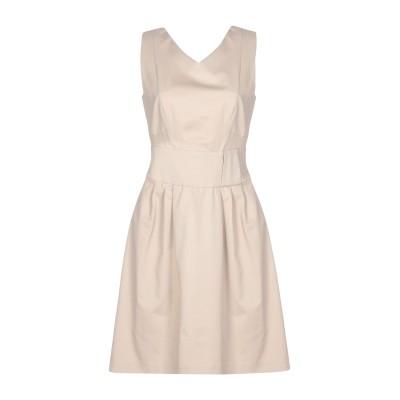 BIANCOGHIACCIO ミニワンピース&ドレス ドーブグレー 46 コットン 97% / ポリウレタン 3% ミニワンピース&ドレス