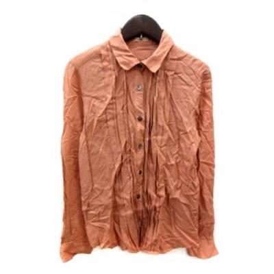【中古】ザ パーラー THE PARLOR シャツ ブラウス 長袖 38 オレンジ /YI レディース