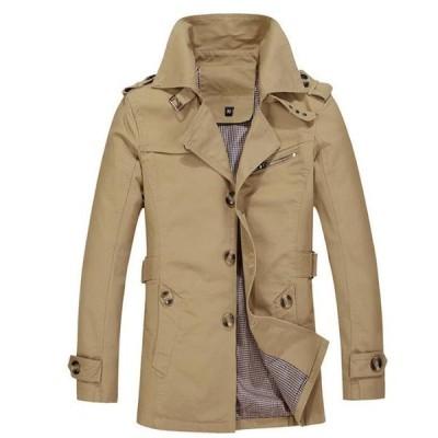 トレンチコート ダブル メンズ コート 通勤 カジュアル アウター 修身 ミディアム丈 大きいサイズ 紳士 テーラード ジャケット冬新作 メンズコート