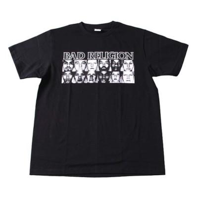 Tシャツ バンドTシャツ ロックTシャツ 半袖 (W) バッドレリジョン BAD RELIGION 1 BLK S/S 黒