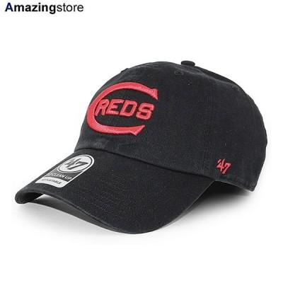 47ブランド シンシナティ レッズ 【MLB COOPERSTOWN CLEAN UP STRAPBACK CAP/BLACK】 47BRAND CINCINNATI REDS