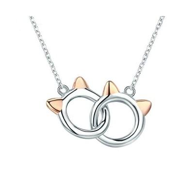 MIKAMU キティ 猫 ネックレス レディース 揺れる きらきら CZダイヤモンド シルバー925 純銀製 人気 猫 ペンダント バレンタ