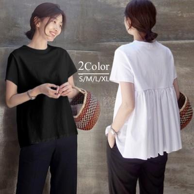 【2020年春・夏新作】発売予定!!!  韓国のファッションコレクション Tシャツ 半袖 ドールシャツ  コットンTシャツ  ジャケット ティーシャツ