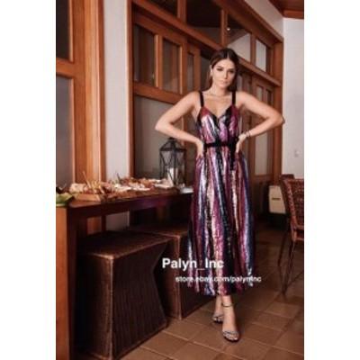 ファッション ドレス RARE_NWT ZARA limited edition STRAPPY CROSSOVER SEQUINNED DRESS PARTY_S M