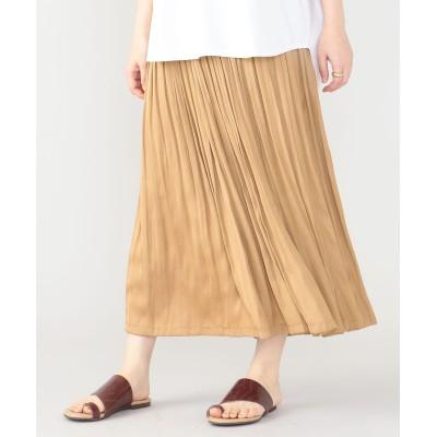 【洗える】モイストサテンプリーツスカート