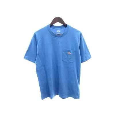 【中古】ダントン DANTON カットソー Tシャツ クルーネック ワッペン 半袖 水色 青 ブルー /AU メンズ 【ベクトル 古着】