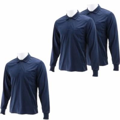 SK11 長袖ポロシャツ ネイビー Mサイズ  M-NVY-3P(3枚入)[Tシャツ(アパレル(男性用))]