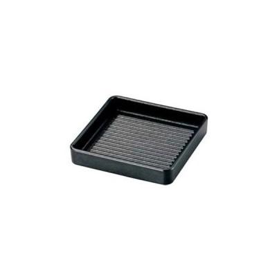 角肉皿 16cm 角 黒(塗無)【 和・洋・中 食器 】