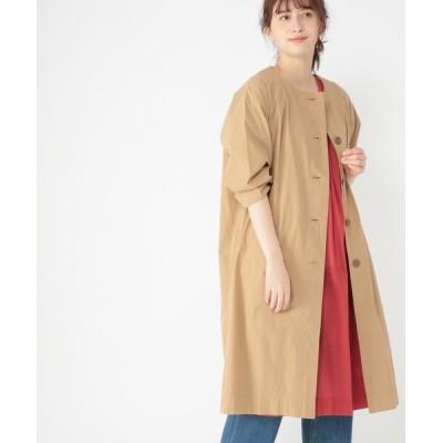 studio CLIP / コットンノーカラーシャツコート WOMEN ジャケット/アウター > ノーカラージャケット