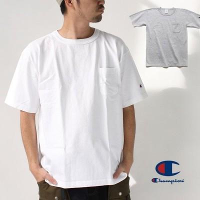 チャンピオン tシャツ ポケット 大きいサイズ メンズ Champion ポケット付き US Tシャツ MADE IN USA C5-B303 / 返品・交換不可