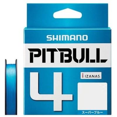 シマノ(SHIMANO) PEライン ピットブル 4本編み 200m 0.8号 スーパーブルー 17.8lb PL-M64R