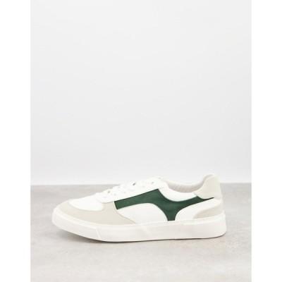 エイソス ASOS DESIGN メンズ スニーカー シューズ・靴 Trainer With Side Details ホワイト