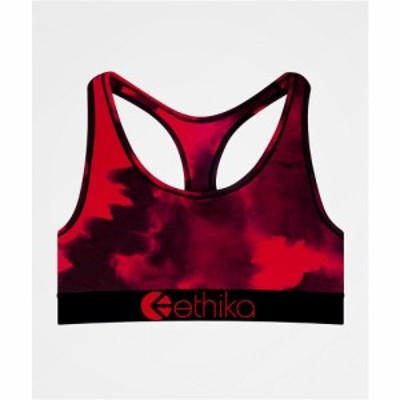 エシカ ETHIKA レディース スポーツブラ インナー・下着 Ethika Crumble Dye Sports Bra Red