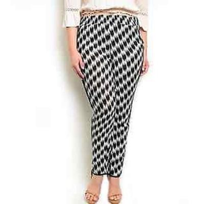 ショップザトレンド ジーンズ Shop the Trends Women's Plus Size Woven Blue, White Black Rayon High Waisted