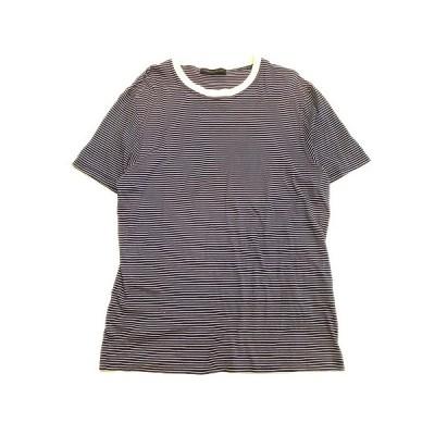 【中古】ロベルトコリーナ ROBERTO COLLINA ボーダー Tシャツ カットソー 半袖 881277MA41039 50 紺×白 メンズ▼3 メンズ 【ベクトル 古着】