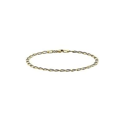 送料無料!PORI JEWELERS 14K Yellow Gold 3MM Charm Link Chain Necklace or Bracelet - M