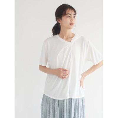 【クラフトスタンダードブティック】 ツイストデザインTシャツ レディース アイボリー F CRAFT STANDARD BOUTIQUE