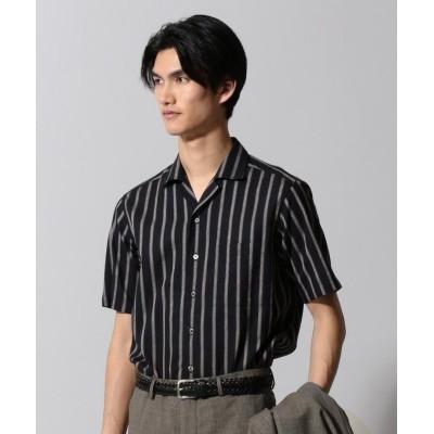 【五大陸】 ハードマンズコットンリネン シャツ メンズ ブラック系1 L gotairiku