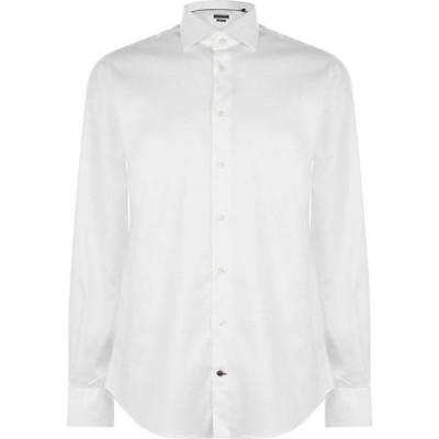 トミー ヒルフィガー Tommy Hilfiger Tailoring メンズ シャツ トップス regular oxford shirt White