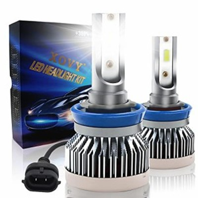 H8/H16/H11 LED ヘッドライト車用, XOVY ヘッドライト バルブ 車検対応 CSPチップ搭載 高輝度 6500K LEDハイビーム/ロービーム, 10000lum