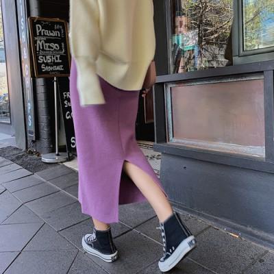 大活躍✨フェミニンラインで上品なニットタイトスカート