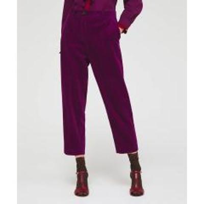 シスレー(ファッション)コーデュロイレギュラークロップドパンツ