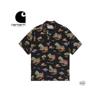 日本正規品 carhartt WIP カーハート ダブリュー アイ ピー S/S BEACH SHIRT I028795 半袖 ビーチシャツ リゾートシャツ オープンカラー メンズ ロゴ