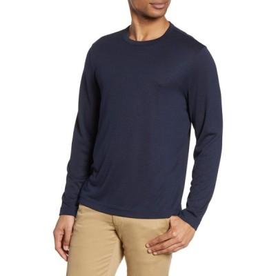 ノードストローム NORDSTROM MEN'S SHOP メンズ 長袖Tシャツ トップス Long Sleeve T-Shirt Navy Blazer Heather