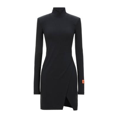 HERON PRESTON ミニワンピース&ドレス ブラック M ポリウレタン® 92% / ポリウレタン 8% ミニワンピース&ドレス