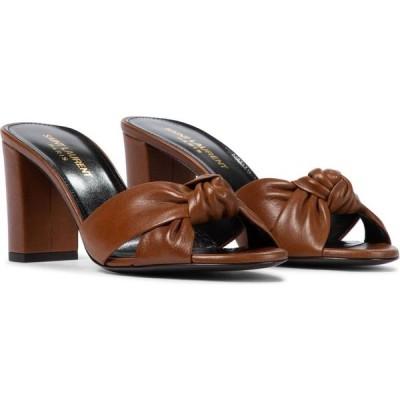 イヴ サンローラン Saint Laurent レディース サンダル・ミュール シューズ・靴 Bianca 75 sandals New Papaya