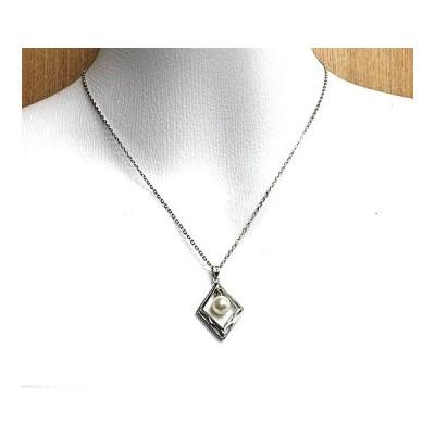 真珠(パール)ネックレス(ペンダント) SILVER