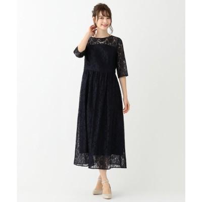 any SiS エアリレーシー ドレス (ネイビー)