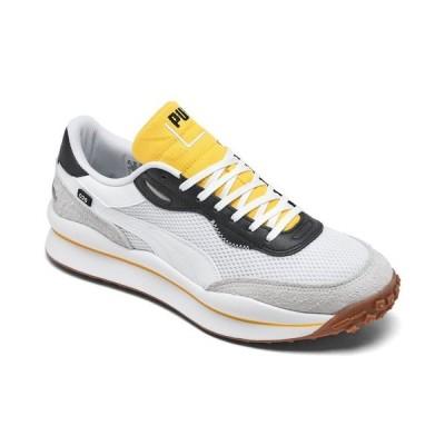 プーマ スニーカー シューズ メンズ Men's Style Rider Warm Texture Casual Sneakers from Finish Line White