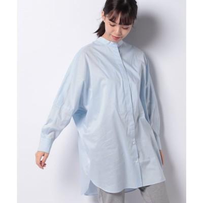 レリアン 【my perfect wardrobe】オーバーサイズコットンシャツ(サックス)【返品不可商品】