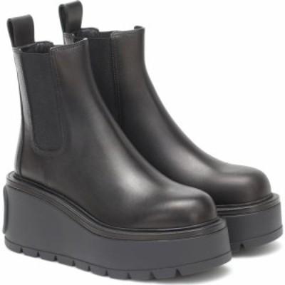 ヴァレンティノ Valentino レディース ブーツ ショートブーツ シューズ・靴 Garavani Uniqueform Leather Platform Ankle Boots Nero