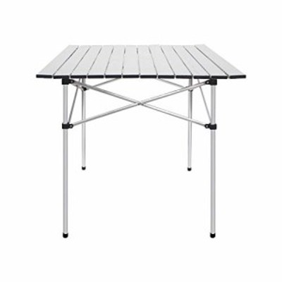 送料無料 Deanurs Folding Tables Camping Roll Up Aluminum Portable Square Table for Outdoor Hiking Picnic28 x 28 wCarr