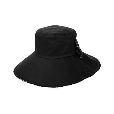 (シッギ)Siggi 大きいサイズ(54−60cm展開) 熱中症対策 99%uvカット帽子 あご紐付き 自転車 (69053-ブラック M)