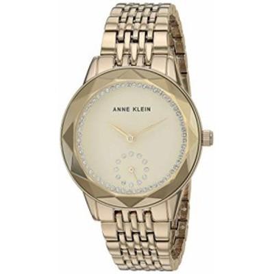 腕時計 アンクライン レディース Anne Klein Women's Swarovski Crystal Accented Gold-Tone Bracelet