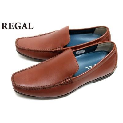 リーガル REGAL 靴 メンズ ビジネスシューズ 56HRAF ロングノーズラスト 本革 バンプスリッポン ブラウン