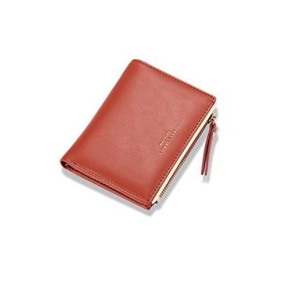 [zaltkaten] 財布 レディース 二つ折り ミニ財布 無地 小さい 大容量 薄型 小銭入れ カード入れ 6枚収納 2way