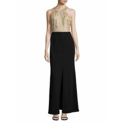 カルバンクライン レディース ワンピース Lace Column Gown