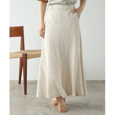 Ray Cassin / レーヨンリネンマーメイドスカート WOMEN スカート > スカート
