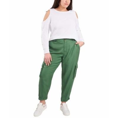 ヴィンスカムート シャツ トップス レディース Plus Size Long Sleeve Cold-Shoulder Snap Top Ultra White