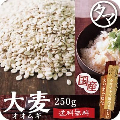 もち麦250g (国産・無添加・令和元年度産) もっちりプチプチとした食感と食物繊維を豊富に含んでいるのが特徴です。 高タンパク、高ミネラルで、β-グルカンという食物繊維は白米に比べ20倍以上! 国産もち麦 遺伝子組み換えなし もち麦ごはん もち麦 国産 送料無料 メール便