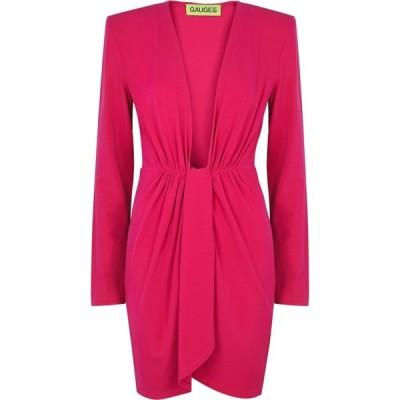 ゲージ81 GAUGE81 レディース パーティードレス ミニ丈 ワンピース・ドレス Krasnodar Fuchsia Stretch-Jersey Mini Dress Pink