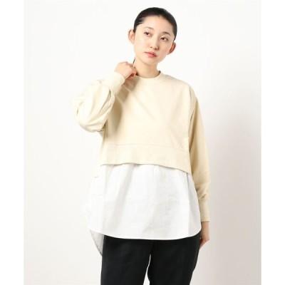 tシャツ Tシャツ レイヤード風コンビチュニック(1S15-350049)