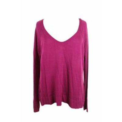 Rachel Roy レイチェルロイ ファッション トップス Rachel Rachel Roy Sangria Long Sleeve V Neck Off Needle jumper L