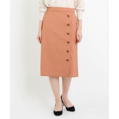 LA MARINE FRANCAISE / T/Rダブルクロス 釦あき台形SK WOMEN スカート > スカート
