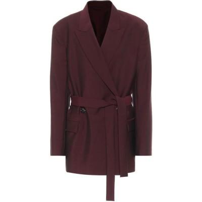 アクネ ストゥディオズ Acne Studios レディース スーツ・ジャケット アウター belted wool and mohair blazer Aubergine/Black